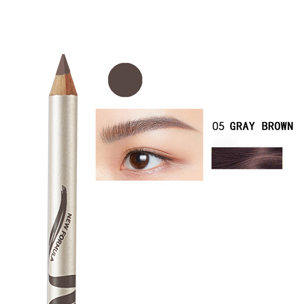 Eyebrow Pencil Waterproof Quick Dry Eyebrow Pen with Brush Beauty Makeup Cosmetic Tools 05 light brown
