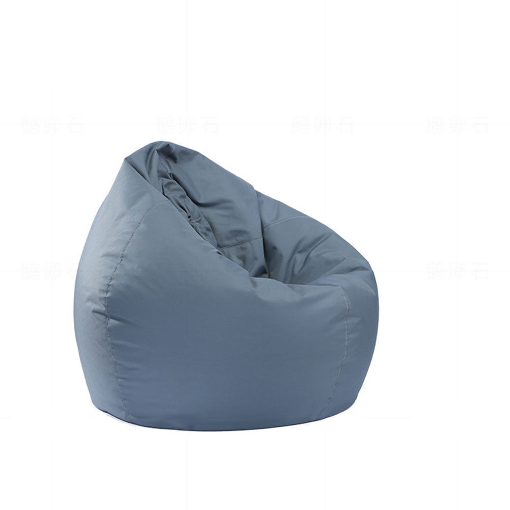 Waterproof Stuffed Animal Storage/Toy Bean Bag Solid Color Oxford Chair Cover Large Beanbag(filling is not included) gray_60X65CM