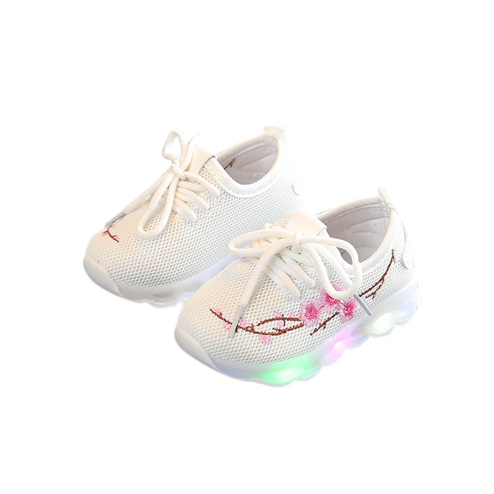 Unisex LED Anti-skid Baby Shoes white