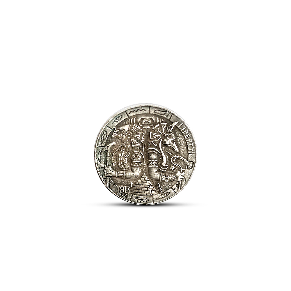 21 mm 5 Cents Dollar Commemorative Coin for Decoration Collecting Anubis