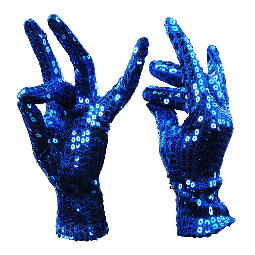 Shimmer Sequin Costume Gloves Halloween Masquerade Party Gloves Supplies Decor Accessory 1 Pair