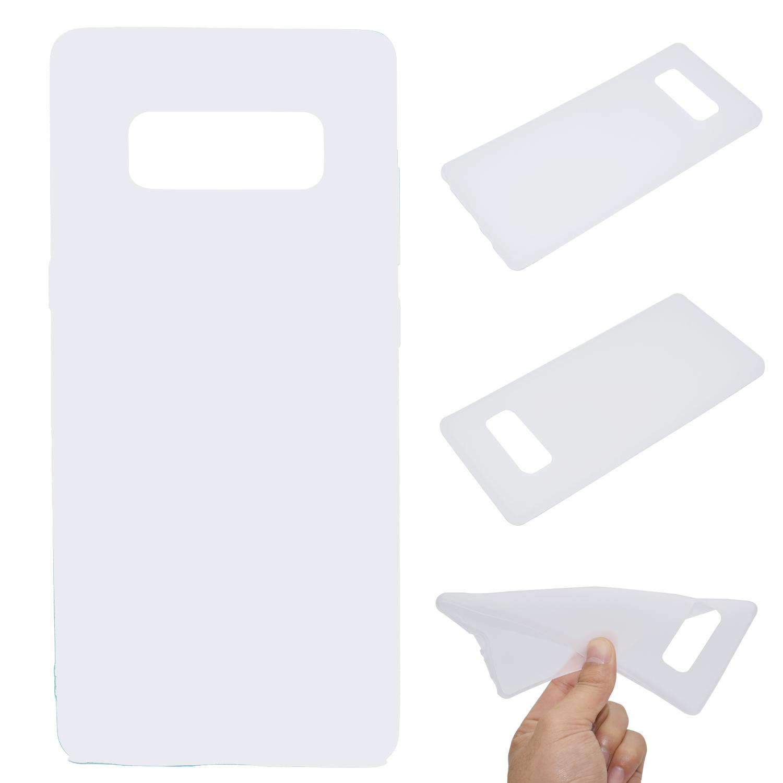 for Samsung NOTE 8 Cute Candy Color Matte TPU Anti-scratch Non-slip Protective Cover Back Case white