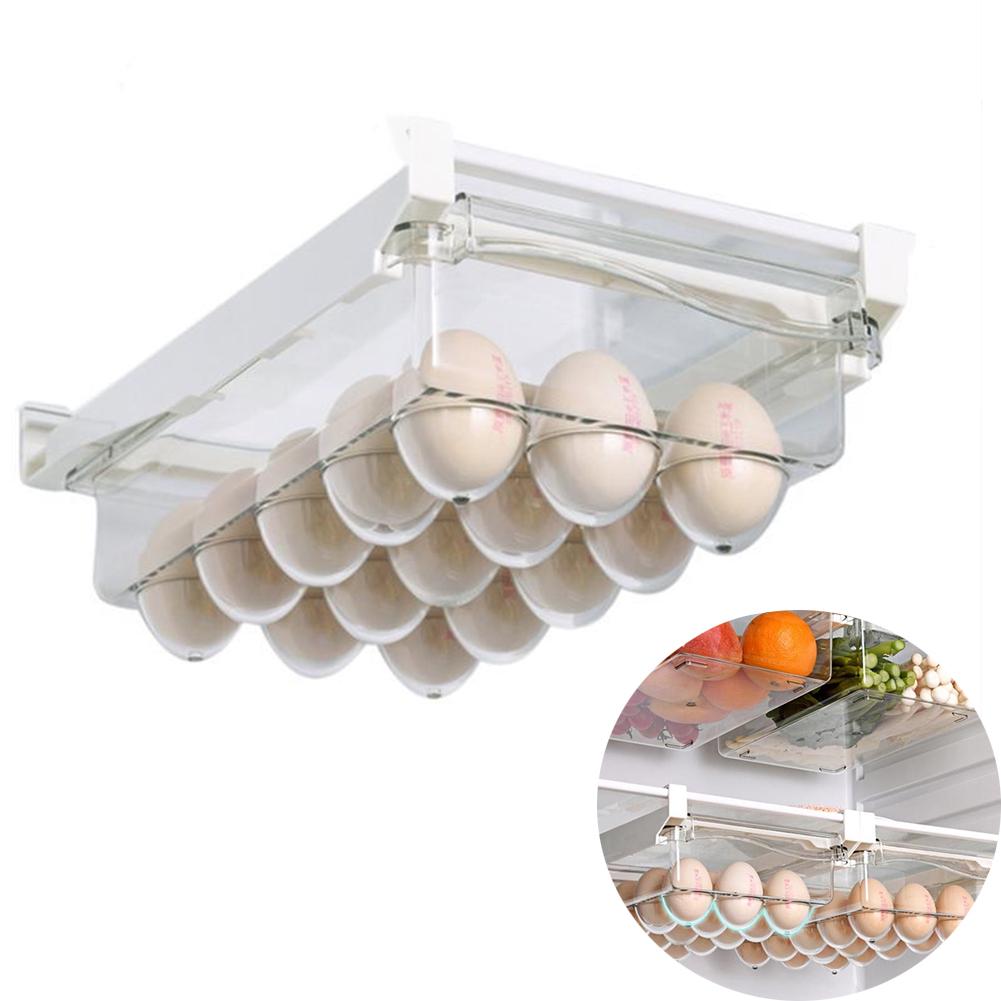 Fridge  Organizer  Drawer Refrigerator Hanging Box Multifunction Storage Container Egg carton with rack