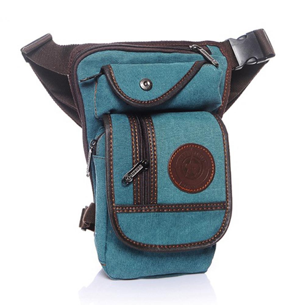 Men Canvas Crossbody Bag Casual All-match Messenger Shoulder Leg Bags Gifts Light blue