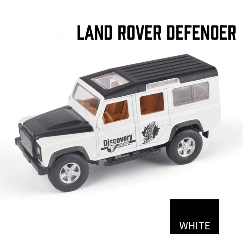 Simulation SUV Off-road Car Alloy Pull Back Auto Toy Gift Collection white