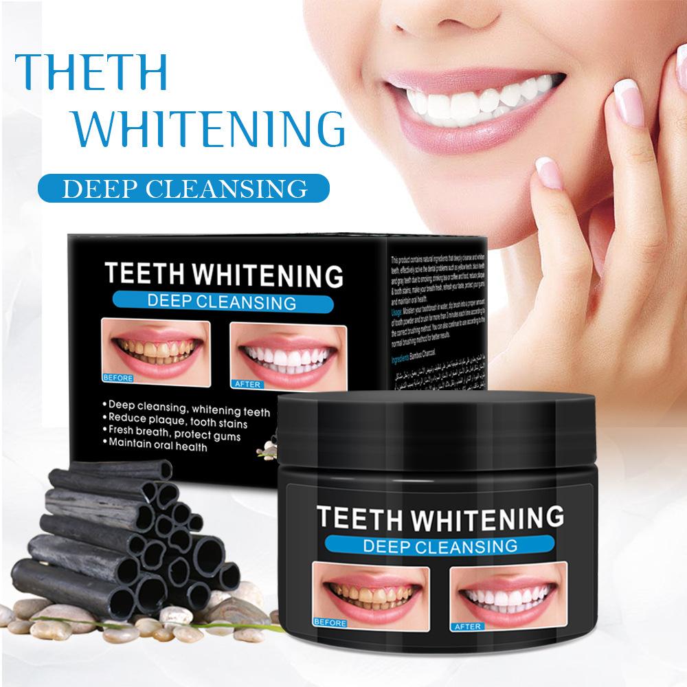 60ml Teeth  Whitening  Powder Activated Bamboo Charcoal Powder Tooth Whitening Scaling Powder 60ml