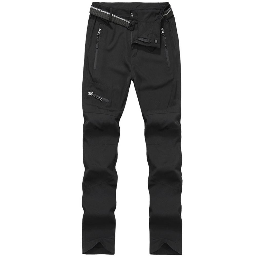Multi-pocket Outdoor Waterproof Windproof Casual Quick-drying Pants High Elastic Walking Running Hiking Ski Pants Black female_XXL