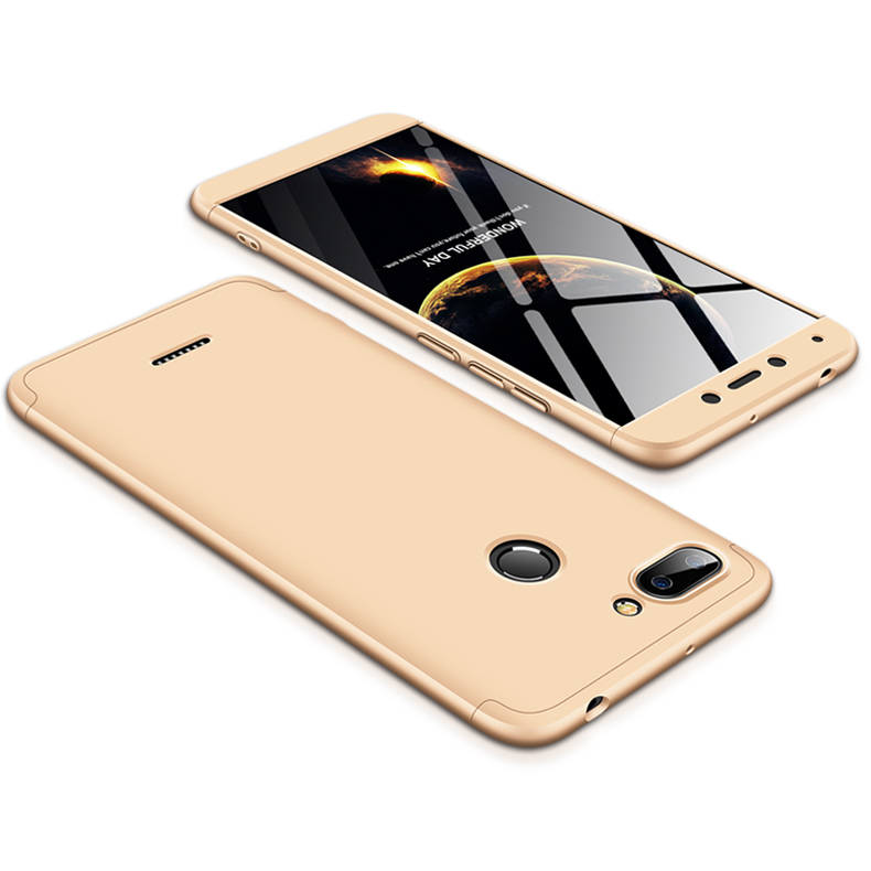 For Redmi 6 3 in 1 Hybrid Hard Case Full Body 360 Degree Protection Back Cover  Gold