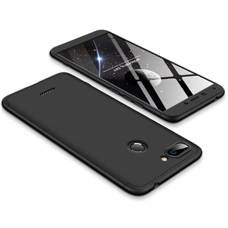 For Redmi 6 3 in 1 Hybrid Hard Case Full Body 360 Degree Protection Back Cover  black