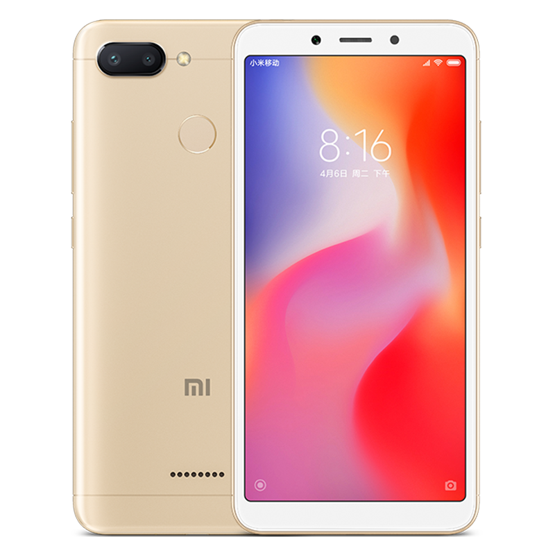 Xiaomi Redmi 6 Android Phone (Gold)