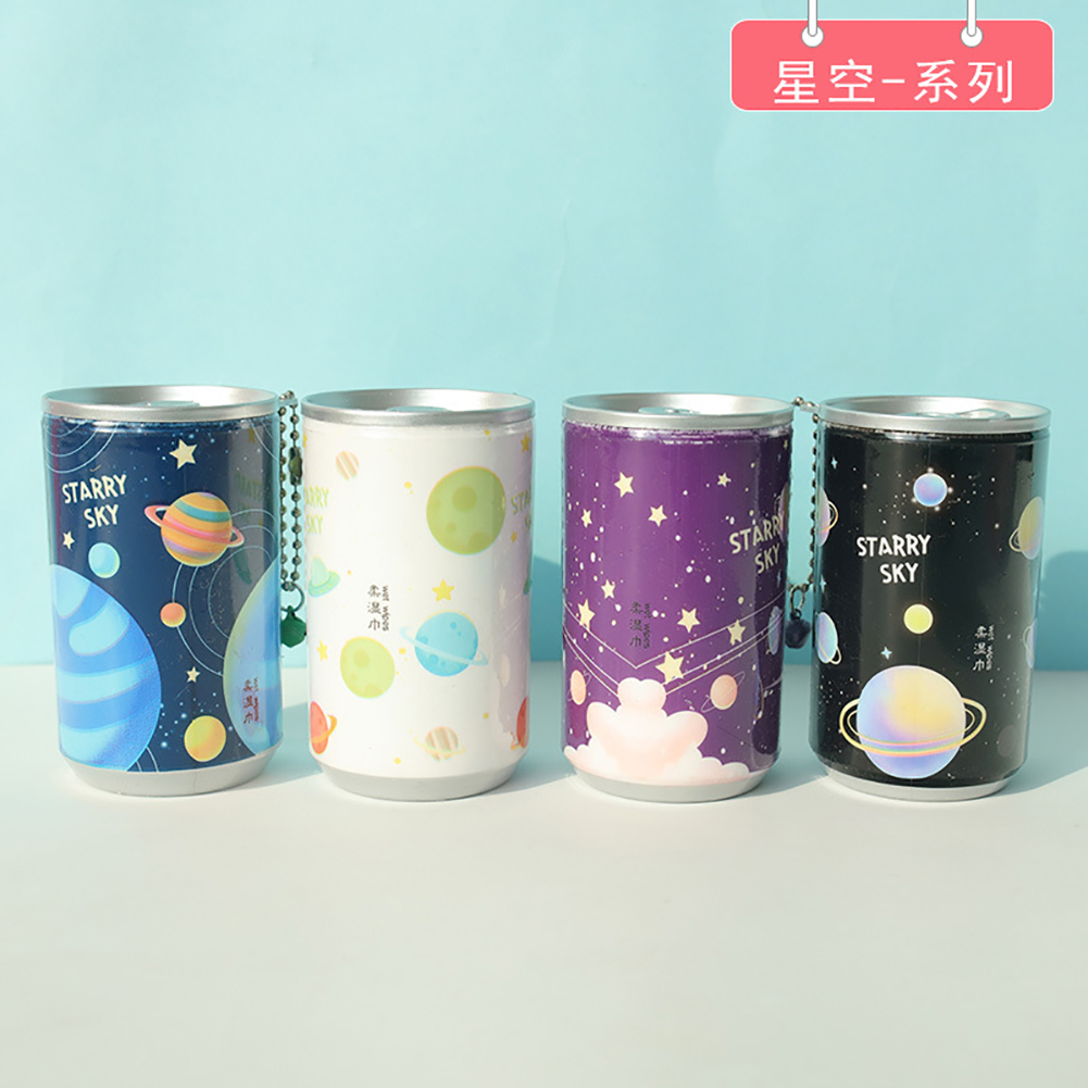 30pcs/set Can Shape Wet Wipes for Hands Gently Clean Portable Disinfection Wipes Wet Paper Towel 7#_85 * 50mm