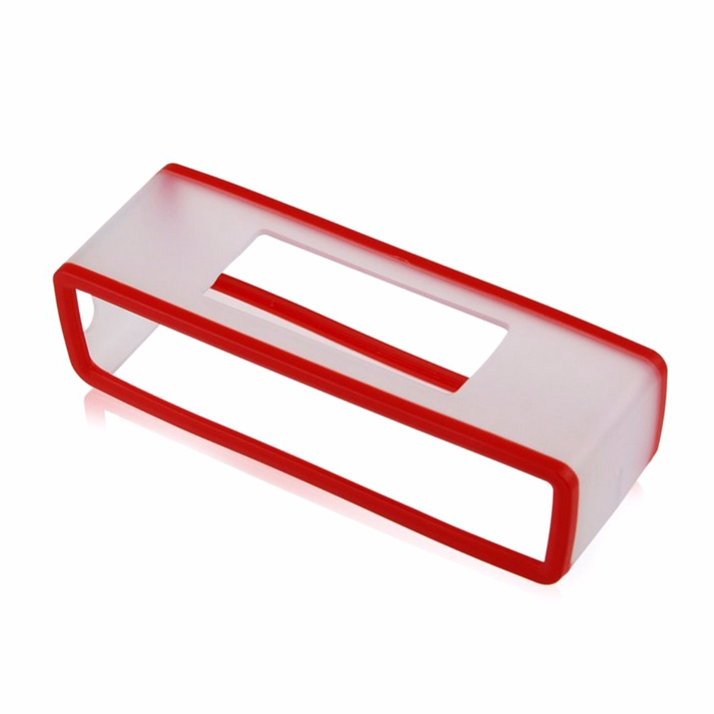 Portable Silicone Case for Bose SoundLink Mini 1 2 Sound Link I II Bluetooth Speaker Protector Cover Skin Box Speakers Pouch Bag red