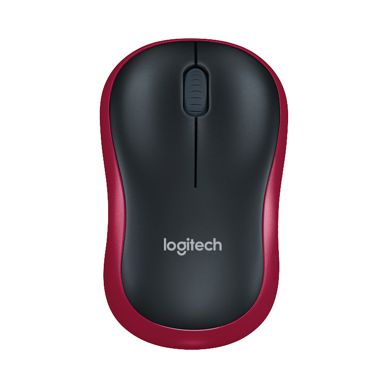 Logitech M186 Mouse Optical Ergonomic 2.4GHz Wireless USB 1000DPI Mice Opto-electronic Both Hands Mouse for Office Home Laptop red