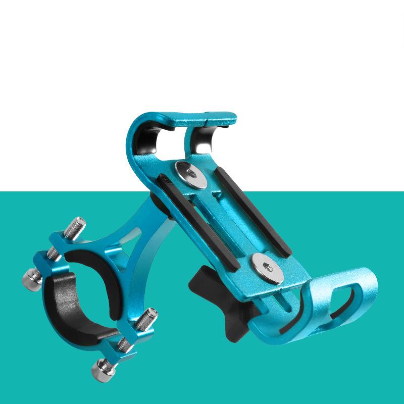 Aluminum Motorcycle Bike Bicycle MTB Handlebar Cell Phone GPS Holder Mount blue
