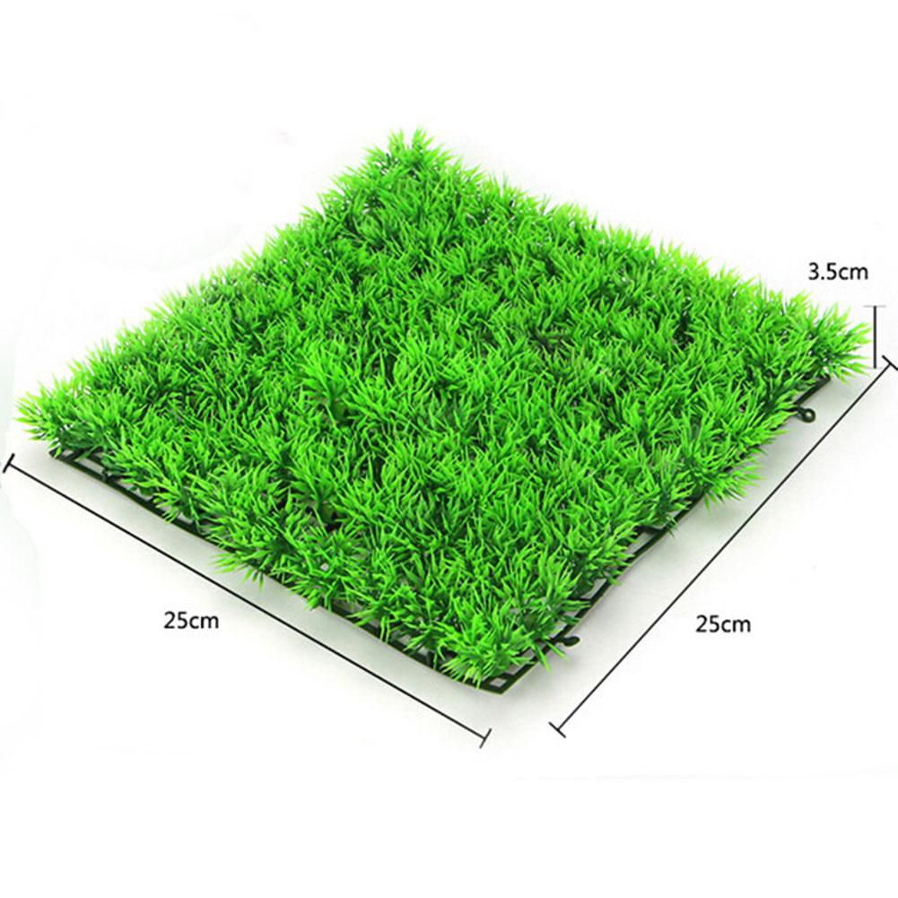 Simulate Green Water Grass Plant Lawn Fish Tank Landscape for Home Aquarium Decor green