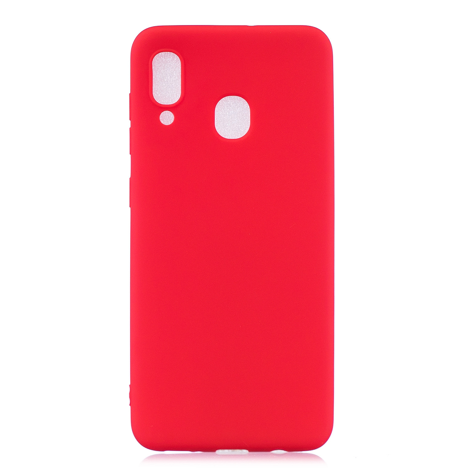 For Samsung A30 Lovely Candy Color Matte TPU Anti-scratch Non-slip Protective Cover Back Case red