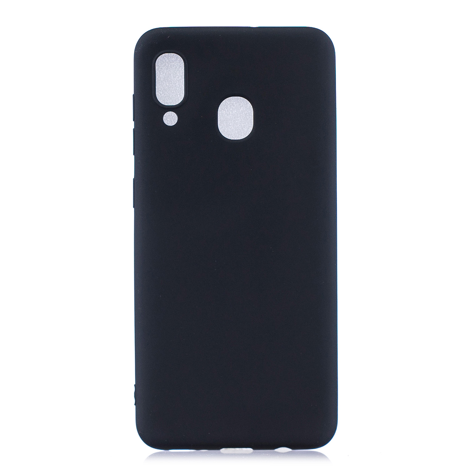 For Samsung A30 Lovely Candy Color Matte TPU Anti-scratch Non-slip Protective Cover Back Case black