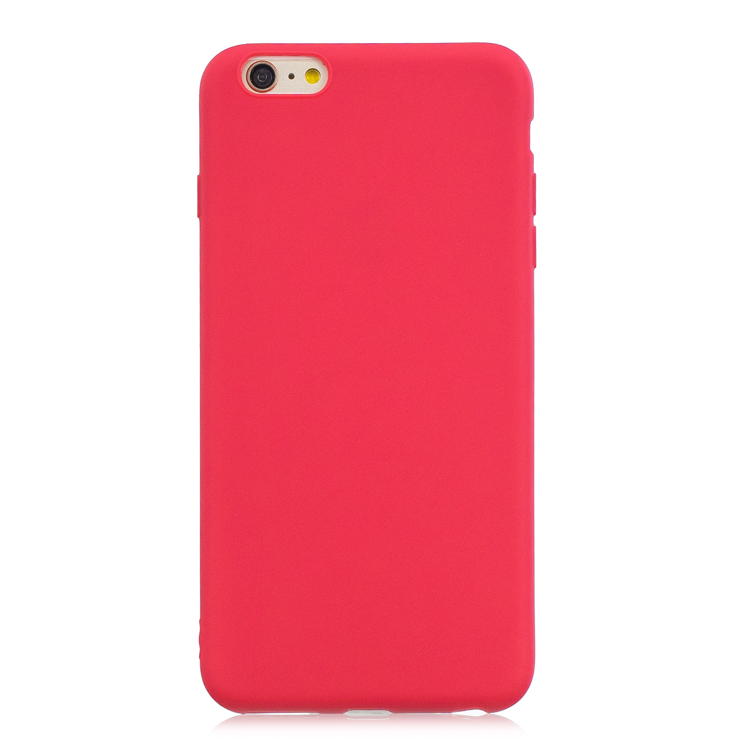for iPhone 6/6S Lovely Candy Color Matte TPU Anti-scratch Non-slip Protective Cover Back Case red