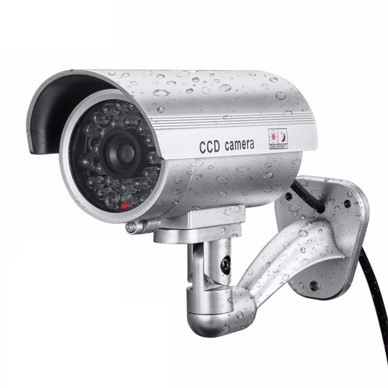 Fake Dummy Camera Bullet Waterproof Outdoor Indoor Security CCTV Camera  Silver