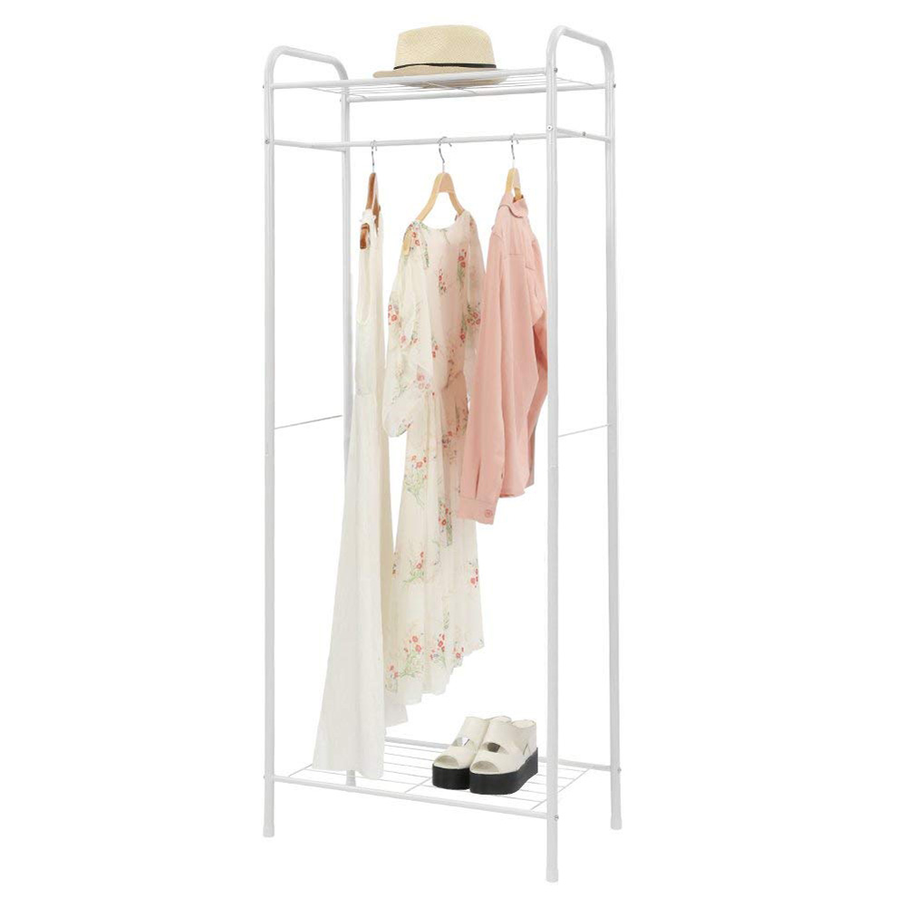 Multifunction Drying Rack Display Stand Assemble Storage Shelf for Coat Hat white