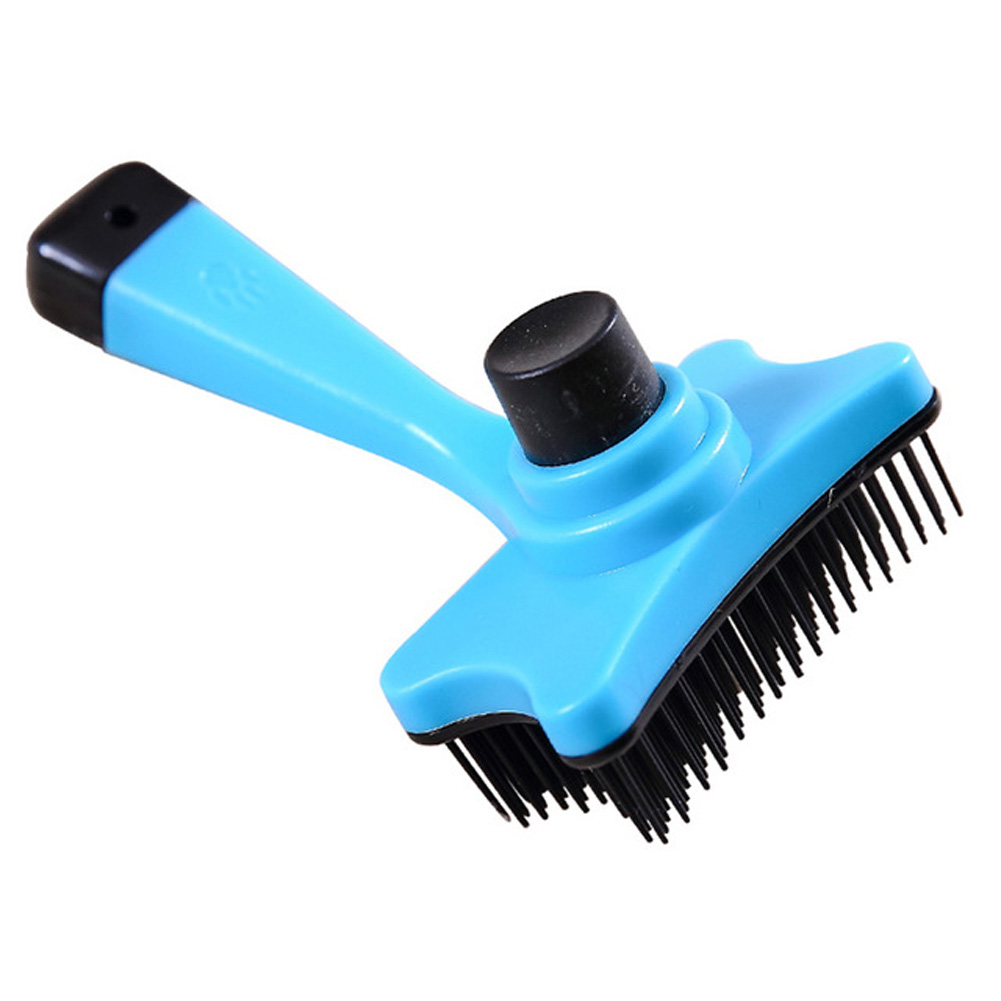 Pet Brush Hair Removal Grooming Comb for Small Dog Cat Supplies 12.5X6.5_blue
