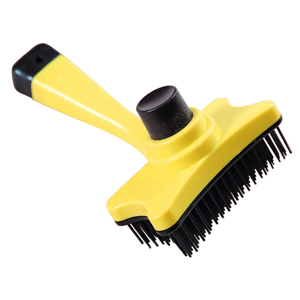 Pet Brush Hair Removal Grooming Comb for Small Dog Cat Supplies 12.5X6.5_yellow