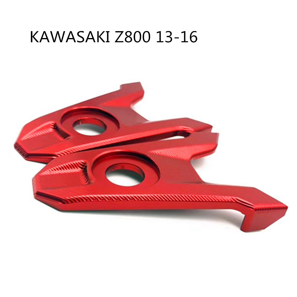 Motorcycle Accessories Rear Axle Spindle Chain Adjuster Blocks for Kawasaki Z800 2013 2014 2015 2016 red