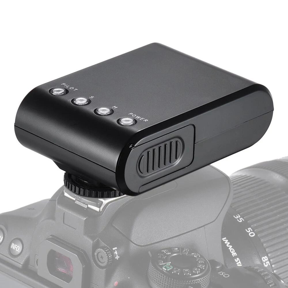 WS-25 Portable Mini Digital Slave Flash Speedlite Flash with Universal Hot Shoe for Canon Nikon Pentax Sony black