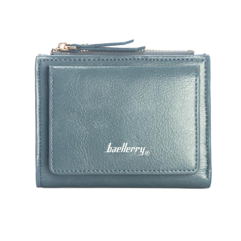 Women PU Wallet Card Holder Bifold Zipper Fashionable Coins Purse