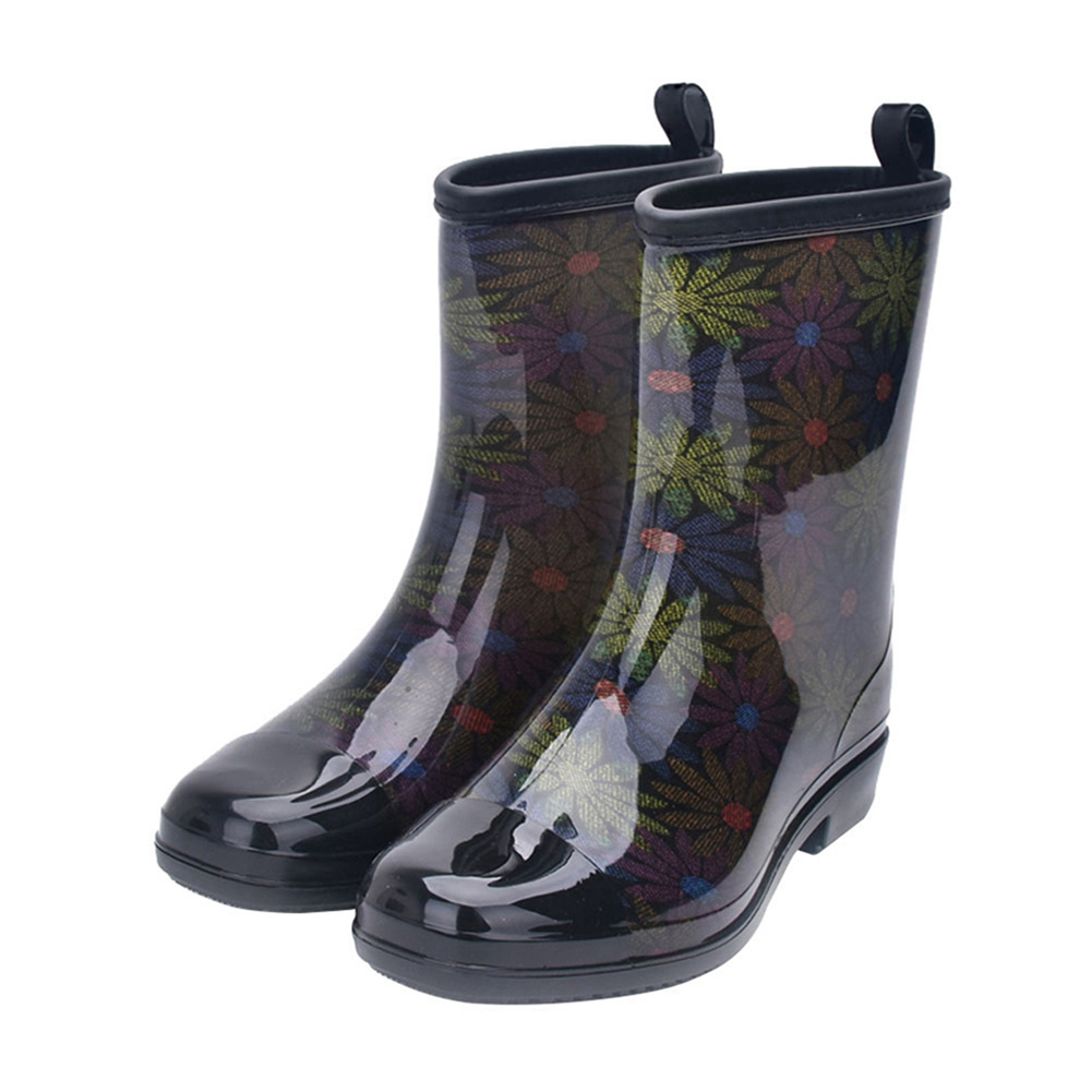Fashion Water Boots Rain Boots Anti-slip Wear-resistant Waterproof For Women and Lady Color 0158_36