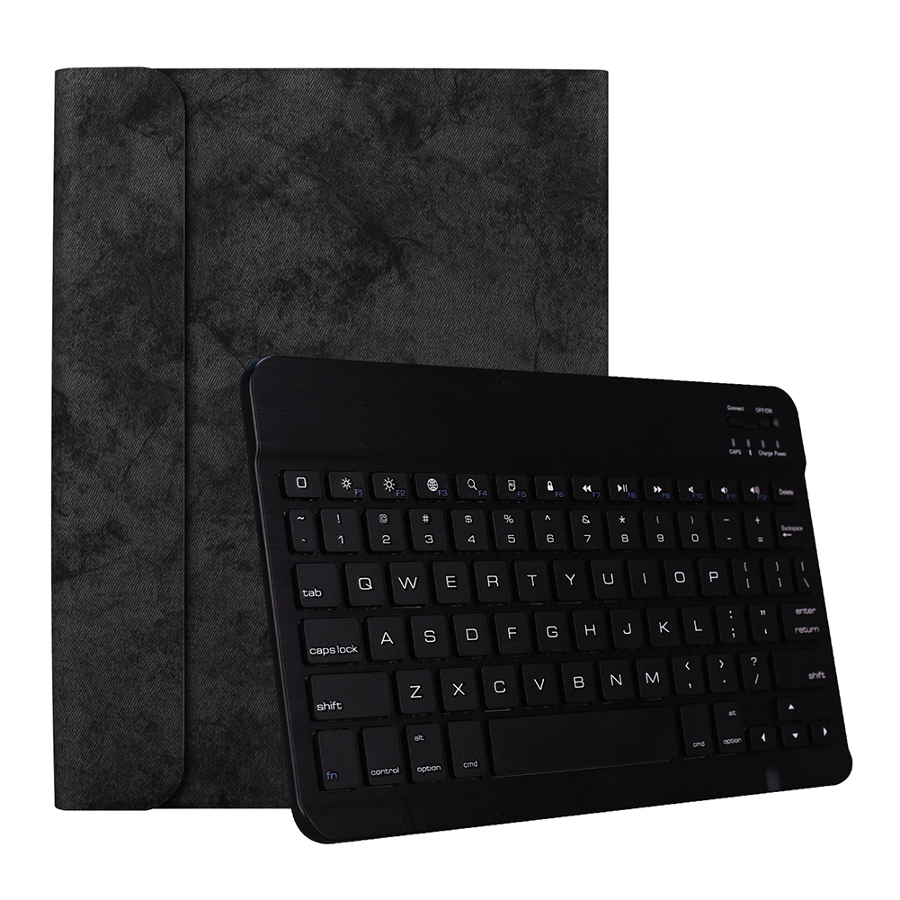 for Apple iPad Pro 11 Inch Wireless Bluetooth Smart Sleep Keyboard Protective Case Black leather case + black keyboard