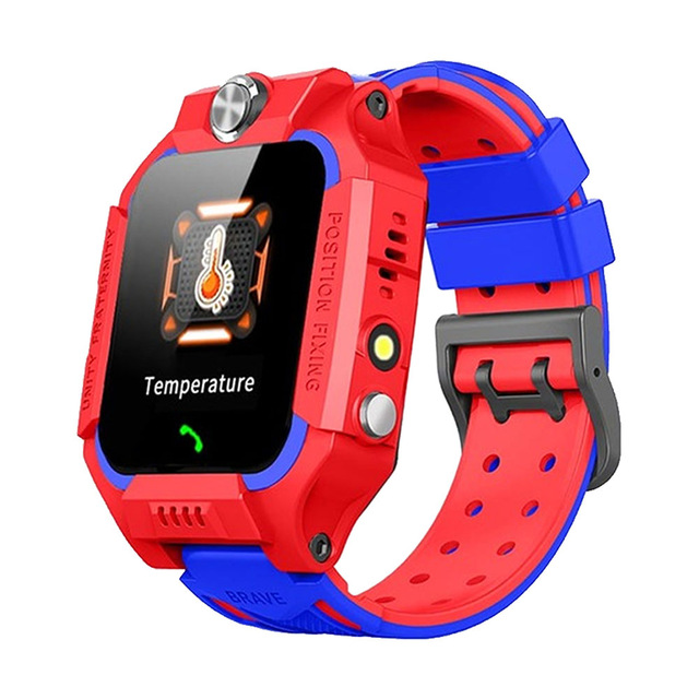 Kids Temperature Detection Smart Bracelet 1.44 Inches Color Touch Screen 400mah Remote Monitoring Intercom Watch red