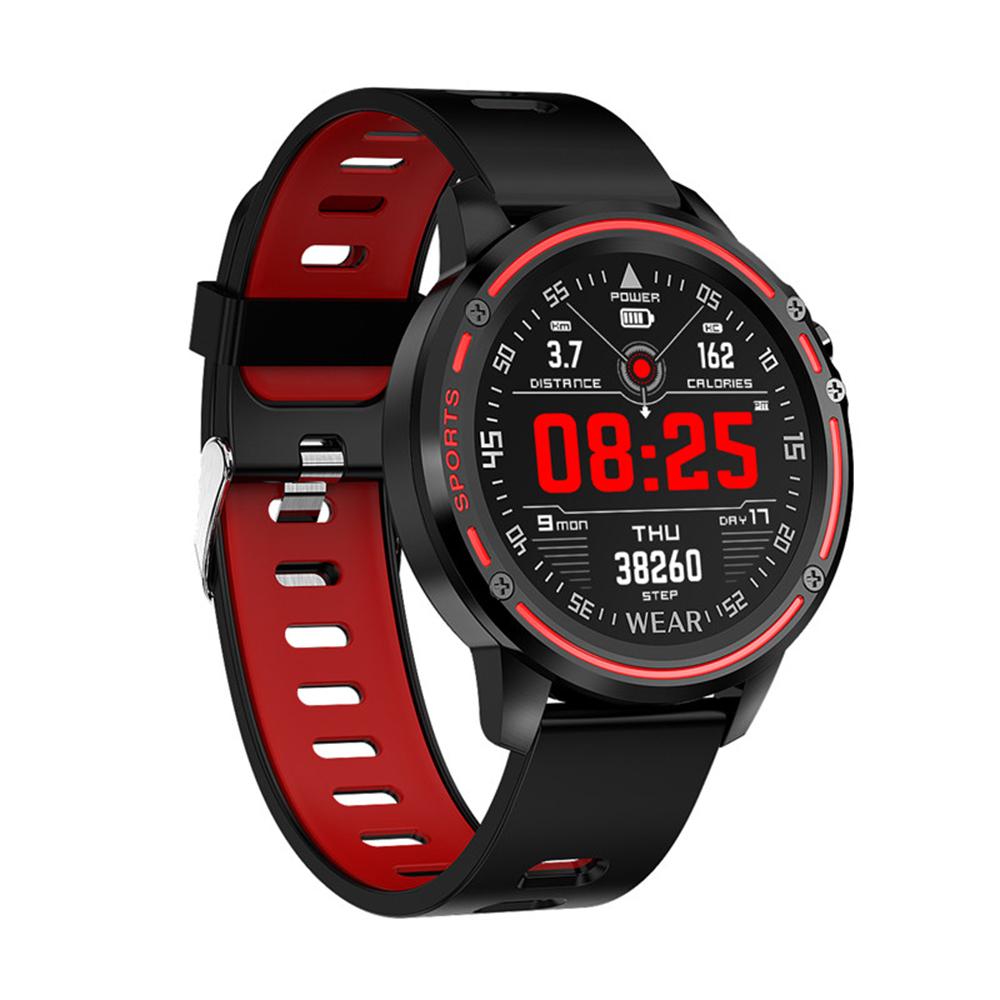 L8 Men Smart Watch IP68 Waterproof Reloj Hombre Mode SmartWatch With ECG PPG Blood Pressure Heart Rate Red