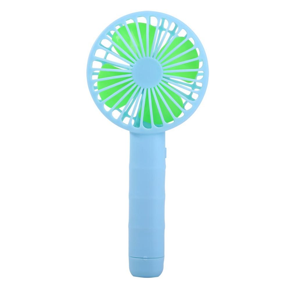 Portable Mini Fan Handheld Battery Powered Fan Desktop Air Cooler Outdoor Travel Hand Fan Blue