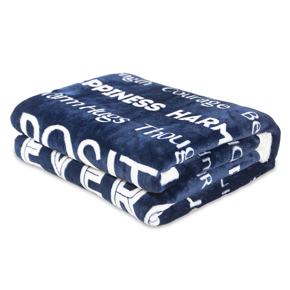 Flannel Throw Blanket Fuzzy Fluffy Cozy Soft Blanket for Couch Bed Sofa blue