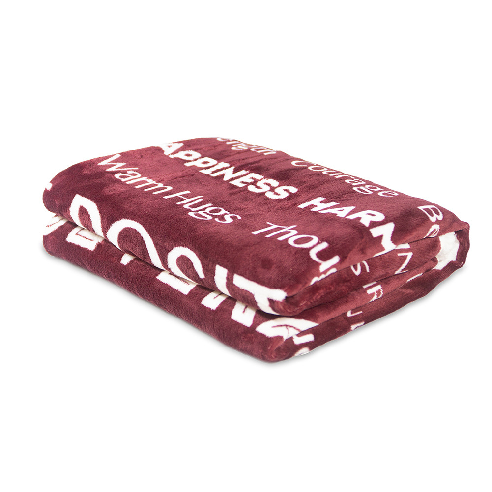 Flannel Throw Blanket Fuzzy Fluffy Cozy Soft Blanket for Couch Bed Sofa Wine red