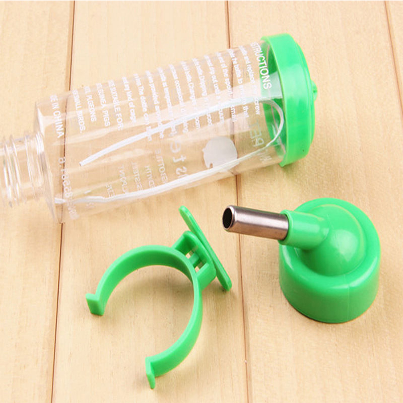 Hanging Water Bottle, Dispenser Feeder, No Drip, Leak Proof Water Kettle, 2 Size for Choice, Fit for Hamster, Guinea Pig, Rabbit, Dog Green_80ml