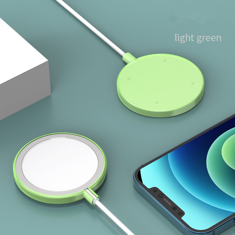 Protective Case For Magsafe Wireless Magnetic Charger Colorful Cover Scratch-resistant Dust-proof Thin Tpu Green