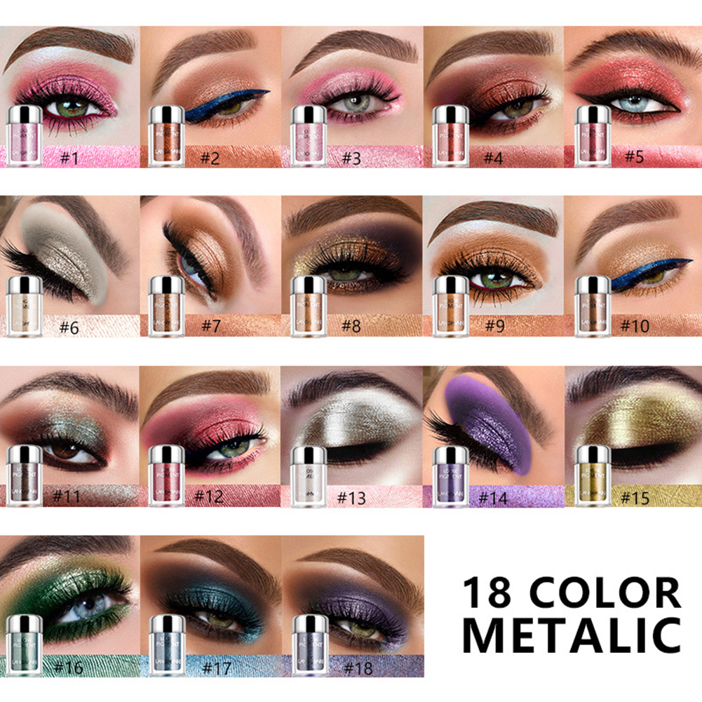Portable Eyeshadow Palette Highlighter Palette Natural Long-lasting Brightening Beauty Tools 15