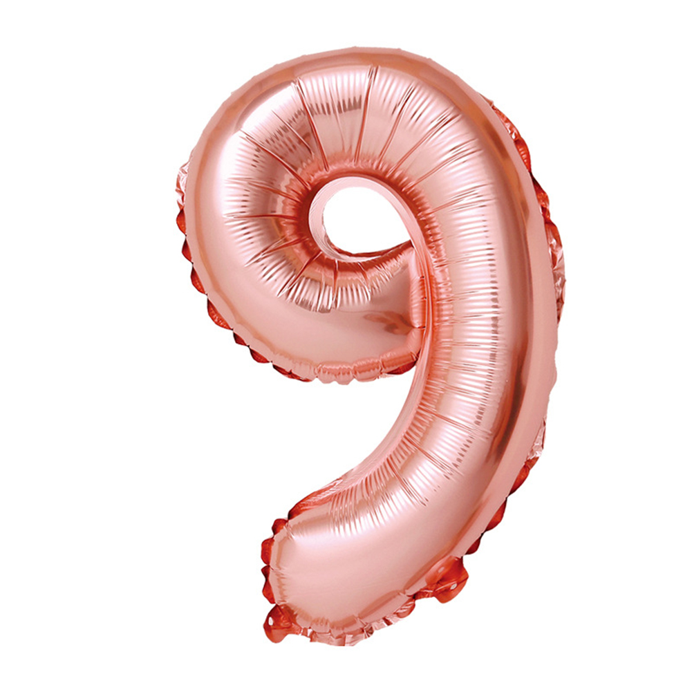 32-inch Rose Gold Digital  Aluminum  Film  Balloons 0-9 Number Party Venue Decoration Props Balloon 9