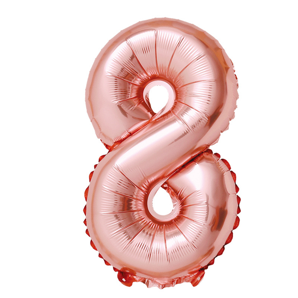 32-inch Rose Gold Digital  Aluminum  Film  Balloons 0-9 Number Party Venue Decoration Props Balloon 8