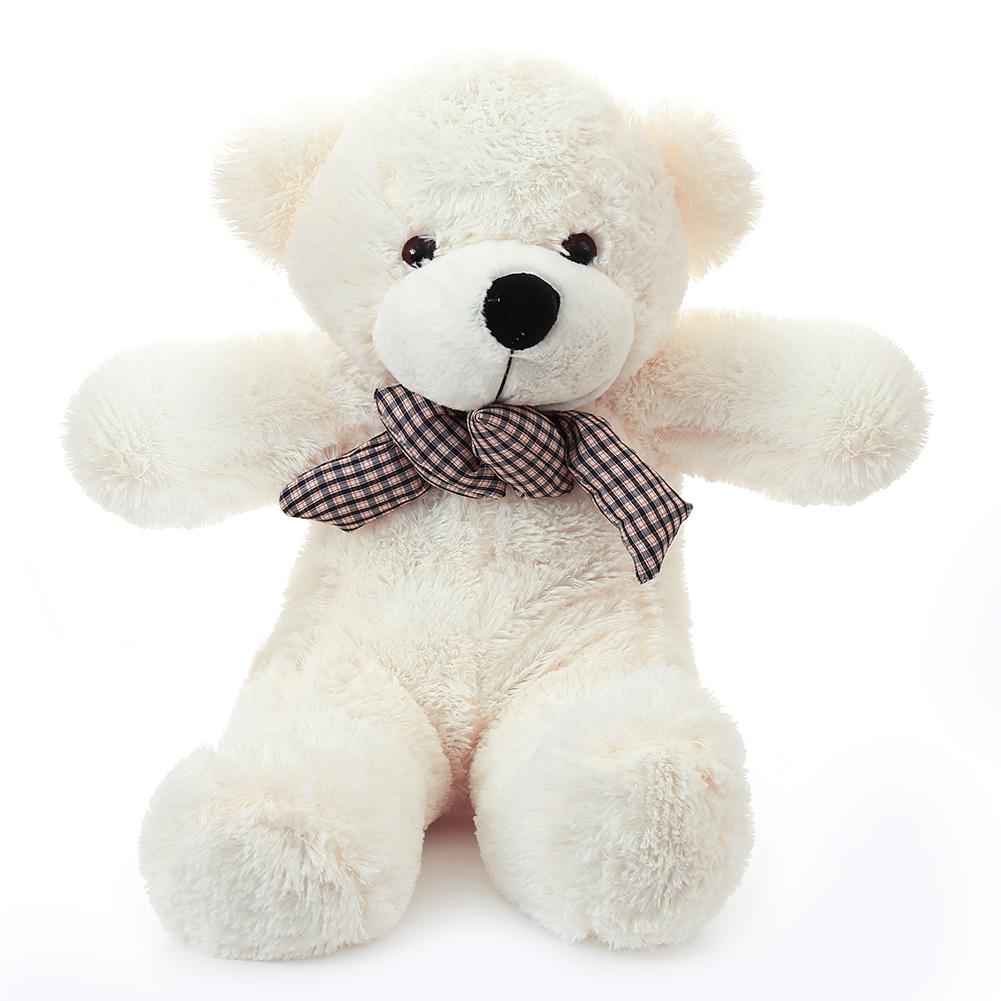 [EU Direct] Cuddly Stuffed Plush Teddy Bear Toy Animal Doll White 60CM