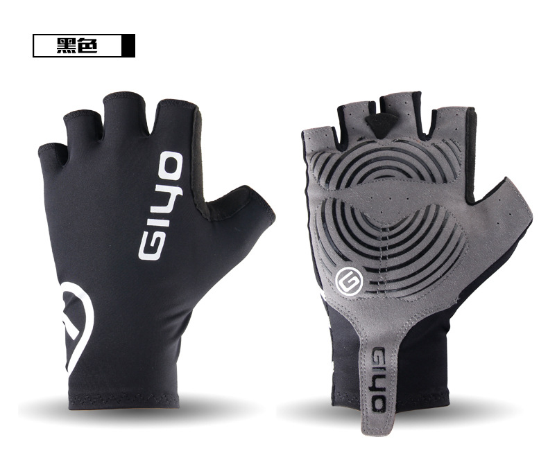 Giyo Cycle Half -finger Gloves Bicycle Race Gloves Of Bicycle Mtb Road Glove black_XL