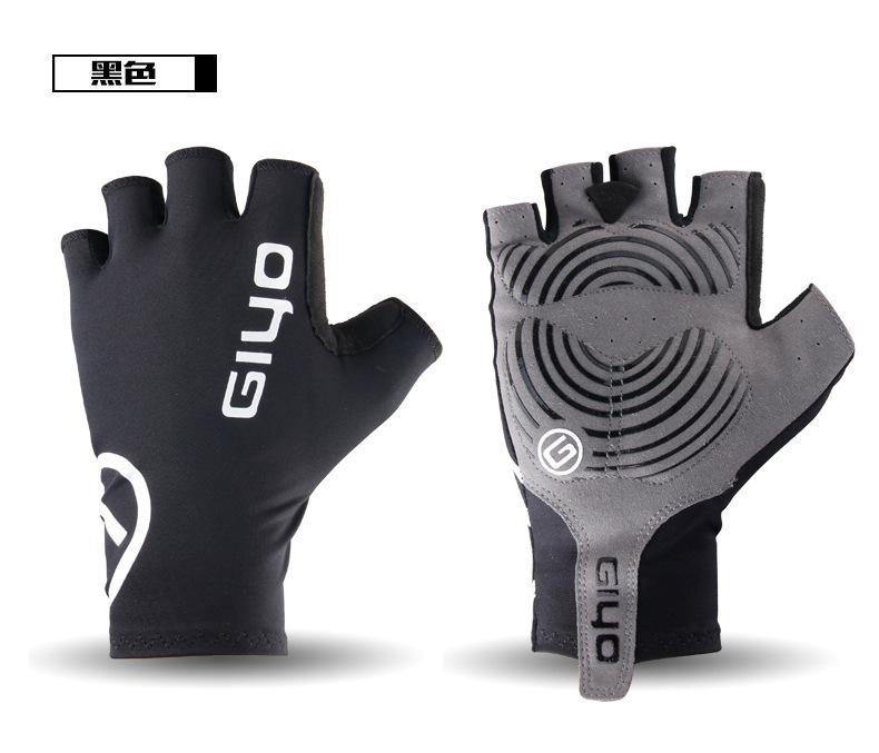 Giyo Cycle Half -finger Gloves Bicycle Race Gloves Of Bicycle Mtb Road Glove black_L