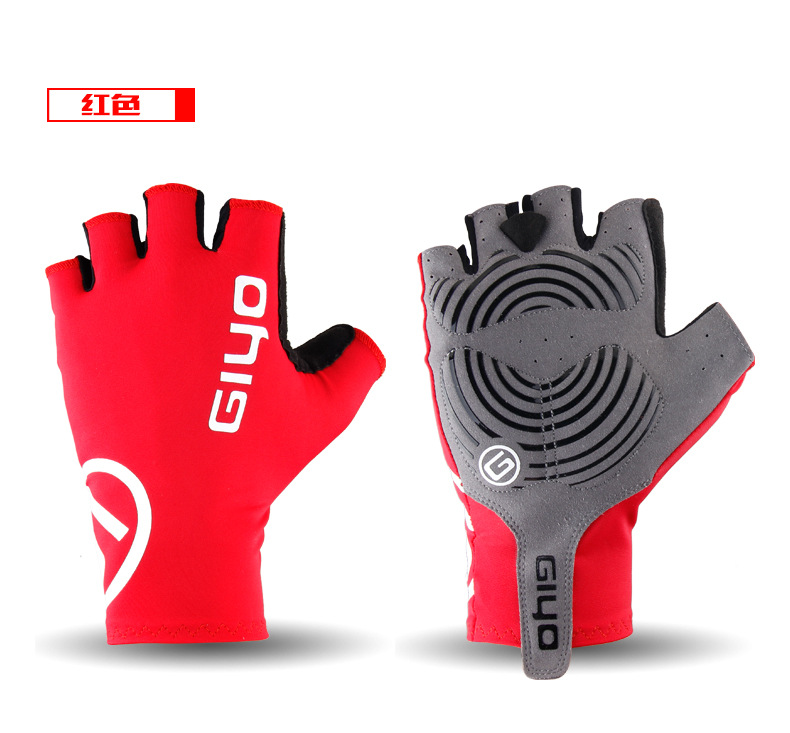 Giyo Cycle Half -finger Gloves Bicycle Race Gloves Of Bicycle Mtb Road Glove red_XL