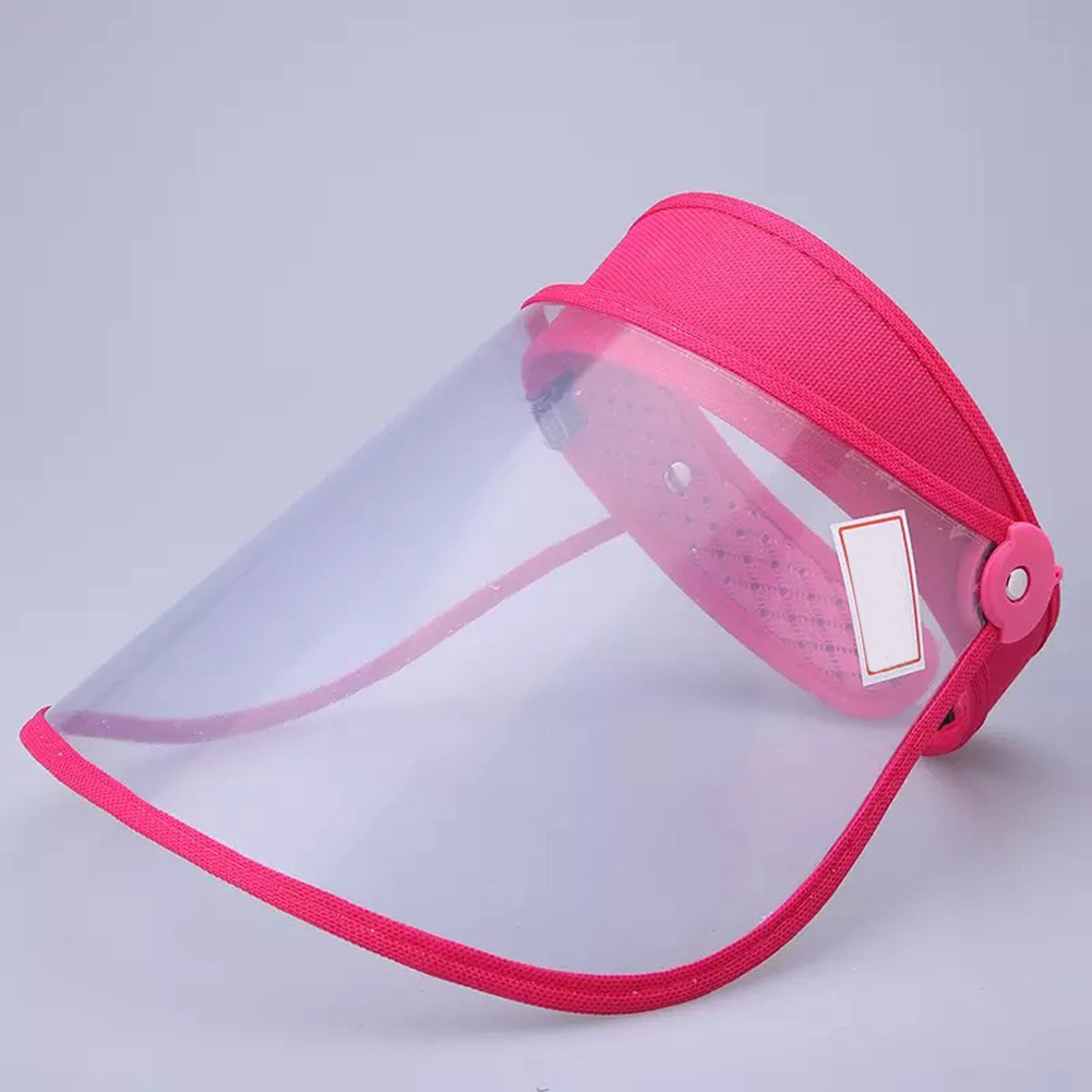 Safety Face Shield 360 Degree Rotated Dust proof Outdoor Riding Visor Cooking Mask rose Red