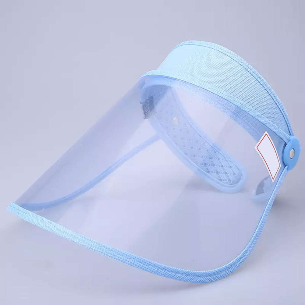 Safety Face Shield 360 Degree Rotated Dust proof Outdoor Riding Visor Cooking Mask sky blue