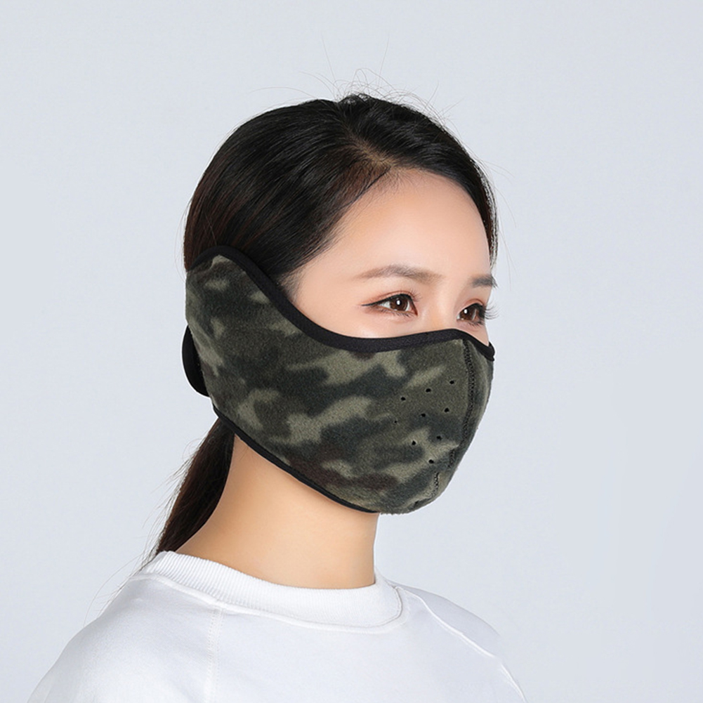 Winter Outdoor Ski Mask Cycling Warm Riding Mask Headgear Windproof Mask Ear Mask Camouflage_Free size