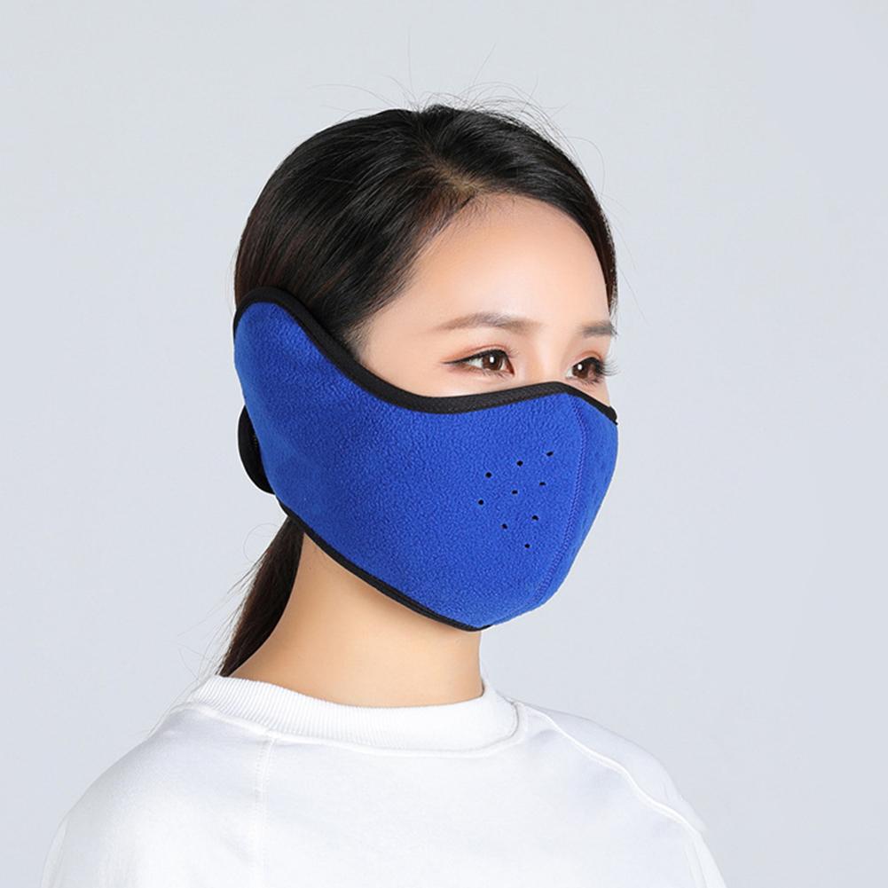 Winter Outdoor Ski Mask Cycling Warm Riding Mask Headgear Windproof Mask Ear Mask sapphire_Free size