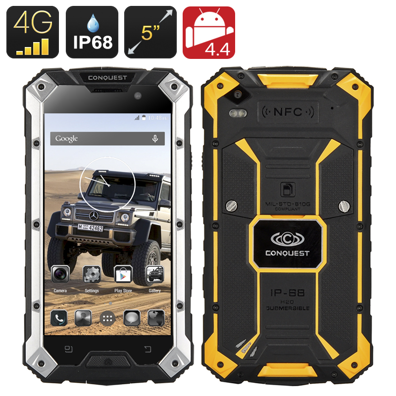 Conquest S6 Plus Rugged Smartphone (Yellow)